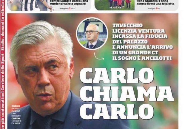 """FOTO – Prima pagina del CdS: """"Napoli: sei sfide d'oro per salire sempre più in alto"""""""