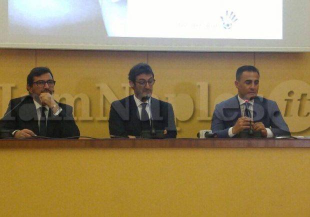 """Cannavaro e Ferrara alla presentazione del progetto Tutor per amico: """"Vogliamo aiutare i giovani meno fortunati"""""""