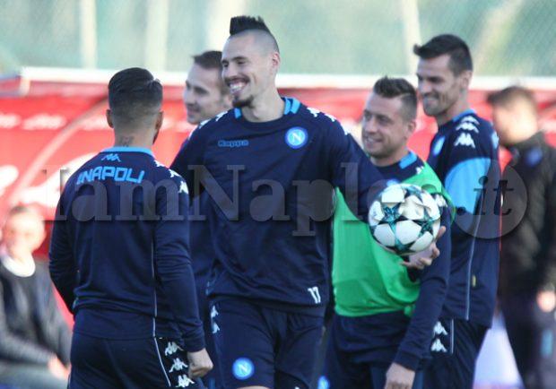 """SSC Napoli: """"Squadra divisa in due gruppi. Per Milik e Ghoulam lavoro differenziato"""""""