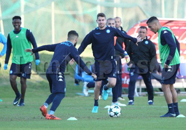 Da Castel Volturno – Allenamento pomeridiano per gli azzurri con partitina finale a campo ridotto
