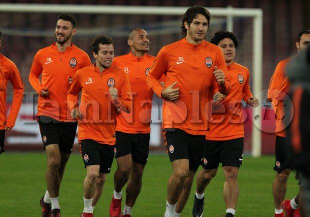 PHOTOGALLERY – Allenamento al San Paolo per i giocatori dello Shakhtar dopo la conferenza stampa di Fonseca e Taison