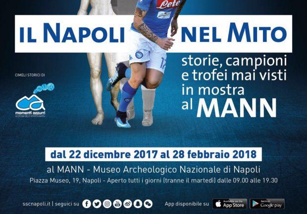 'Il Napoli nel mito – storie, campioni e trofei mai visti, in mostra al MANN' dal 22 dicembre al 28 febbraio