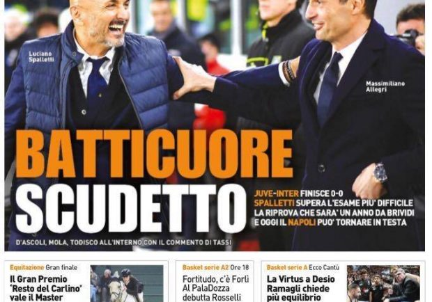 """FOTO – QS in prima pagina: """"Oggi il Napoli può tornare in testa"""""""