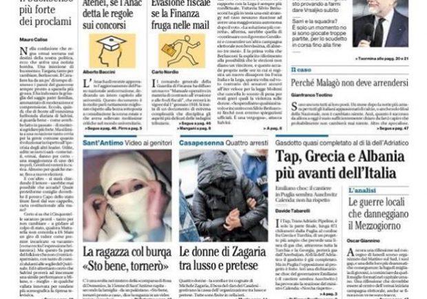 """FOTO – Il Mattino titola: """"De Laurentiis: stadio, il sindaco non lo aspetto più"""""""