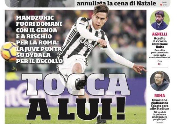 """FOTO – Prima pagina del CdS: """"Un Napoli tutto nuovo contro l'Udinese"""""""