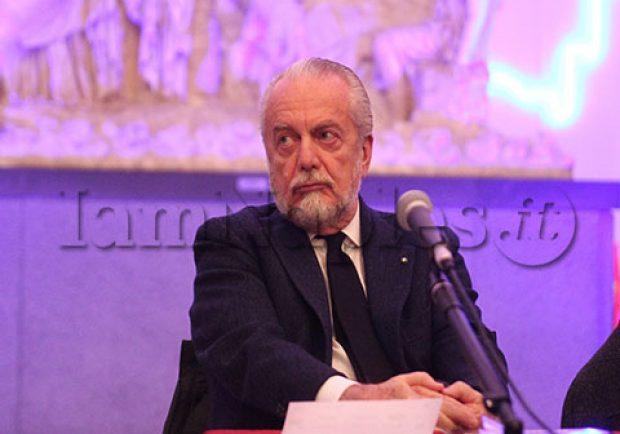 """De Laurentiis alla presentazione del suo ultimo film """"Benedetta Follia"""": il patron azzurro arrivato all'Hotel Vesuvio"""
