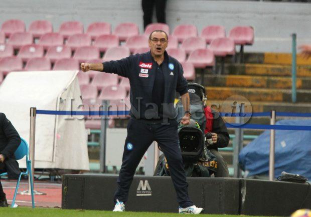 """Sarri: """"L'assenza di Milik alla lunga è pesante, dobbiamo uscire dalle difficoltà ma la squadra è in crescita"""""""