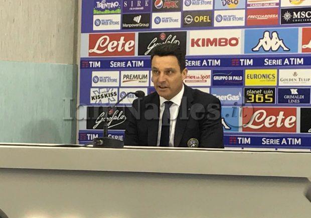 """Udinese, Oddo torna sul match contro il Napoli: """"E' normale soffrire contro una grande squadra"""""""