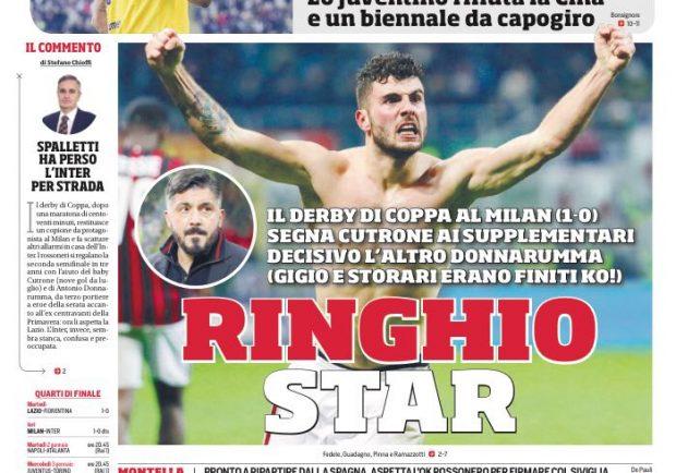 """FOTO – CorSport in prima pagina: """"Mandzukic, no alla Cina"""""""