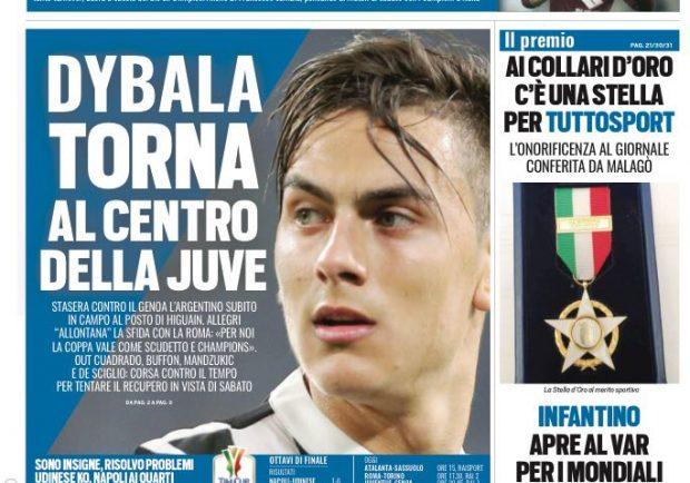 """FOTO – Tuttosport: """"Insigne risolve i problemi al Napoli"""""""