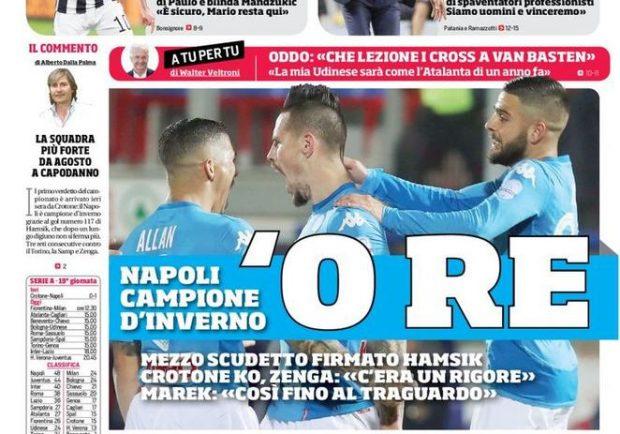 FOTO – Il Corriere dello Sport incorona Hamsik