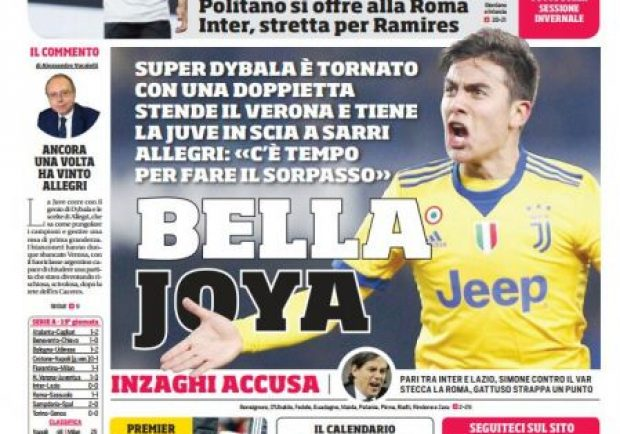 """FOTO – Prima pagina del Cds: """"Scatto Napoli: subito Younes"""""""
