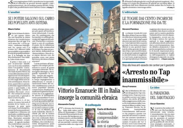 """FOTO – Il Mattino: """"Napoli, tre priorità per lo scudetto"""""""