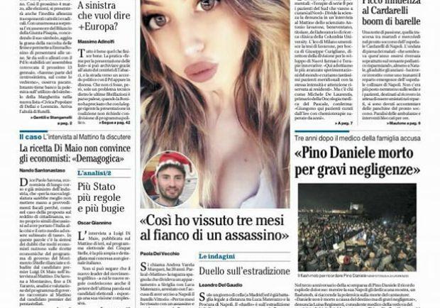 """FOTO – Il Mattino titola: """"Scossa azzurra, è già pienone al San Paolo"""""""