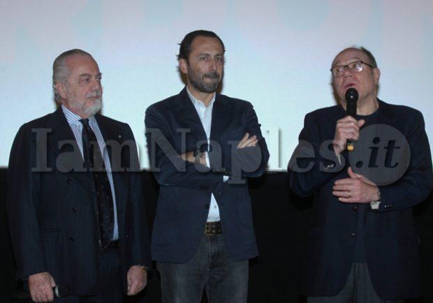 PHOTOGALLERY – Il Napoli alla presentazione dell'ultimo film di De Laurentiis: assente Sarri