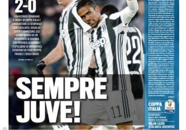 """FOTO – Tuttosport in prima pagina: """"Sarri: rinforzi subito"""""""