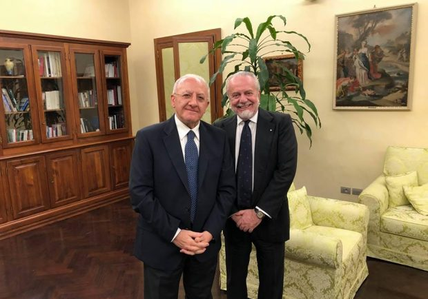 Incontro tra De Luca e De Laurentiis, venti milioni per la ristrutturazione del San Paolo