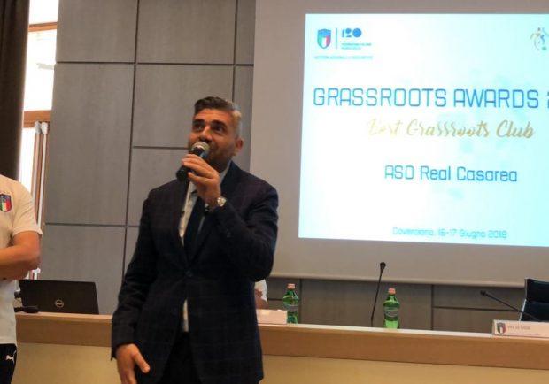 Figc, la scuola calcio campana Real Casarea premiata come migliore in Italia