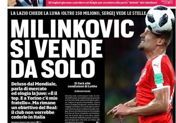 """FOTO – CdS in prima pagina: """"Marek chiama Ancelotti: 'Resto!'. Albiol allunga il contratto"""""""