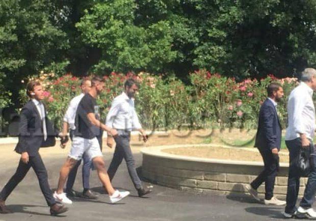 FOTO IamNaples.it – Fabian Ruiz e Ghoulam arrivati a Villa Stuart