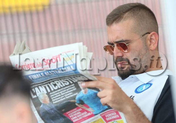 """FOTO – SSC Napoli: """"Bella serata con i parlamentari che tifano la squadra azzurra"""""""