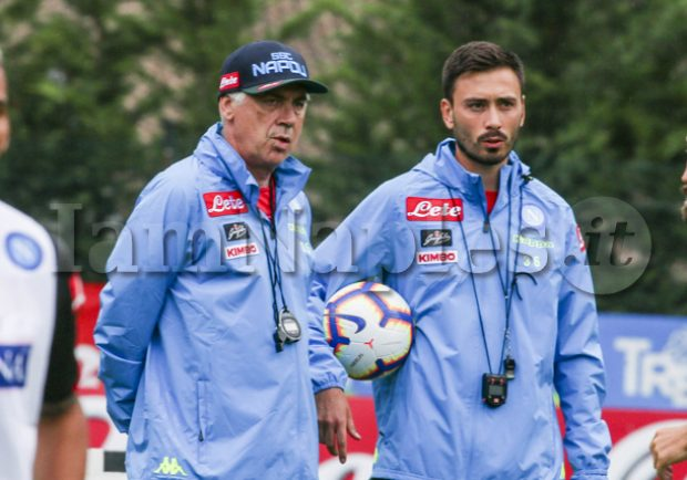 """Davide Ancelotti a DAZN: """"Siamo stati bravi e maturi contro l'insidia maltempo. Il nostro lavoro a Napoli procede bene"""""""