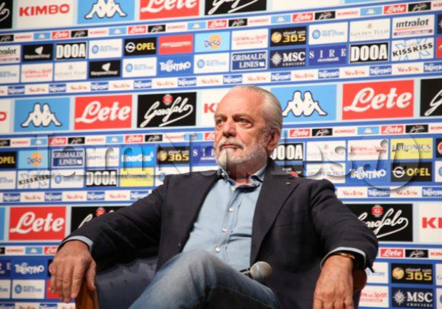 """De Laurentiis: """"Stasera ringrazierò squadra e Ancelotti. Non era facile passare dal gioco di Sarri al nuovo"""""""