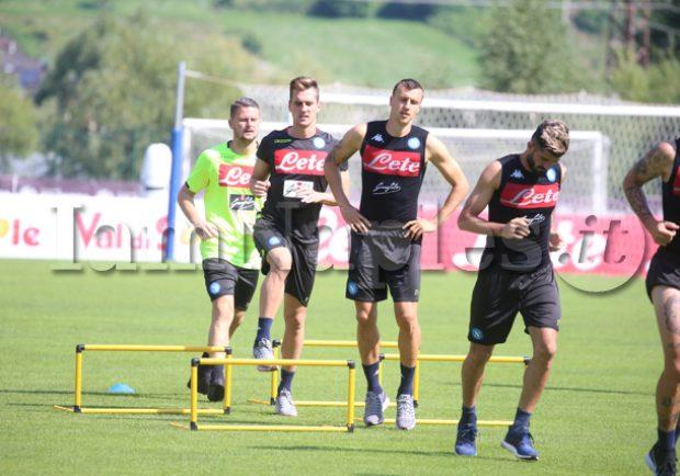 Gli azzurri verso il match contro il Milan al San Paolo, domani riprenderanno gli allenamenti