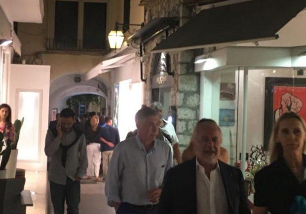 PHOTOGALLERY – SKY, Ancelotti e De Laurentiis insieme a Capri
