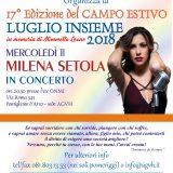 Mercoledì 11 Luglio a Pomigliano il concerto di Milena Setola
