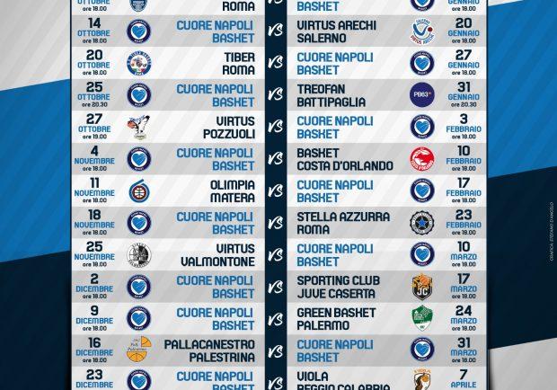 Napoli Calendario.Cuore Napoli Basket Ecco Il Calendario Della Prossima