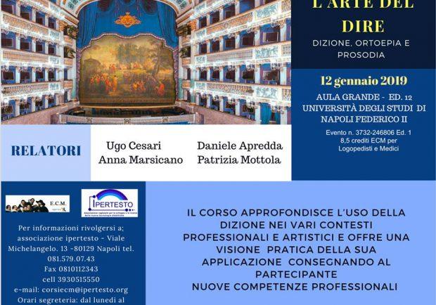 """L'arte del dire"""", al Policlinico di Napoli un corso workshop dedicato alla voce"""