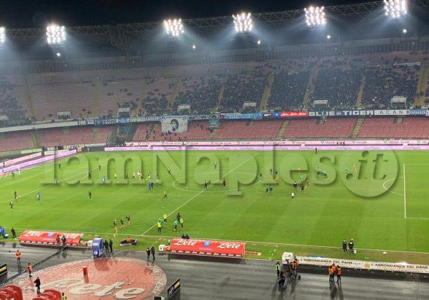 Napoli-Sassuolo, presenti quasi 15mila spettatori al San Paolo: i dati ufficiali dell'incasso
