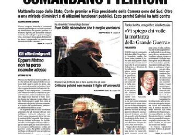 """""""Comandano i terroni"""", l'Ordine dei Giornalisti interviene contro Libero"""