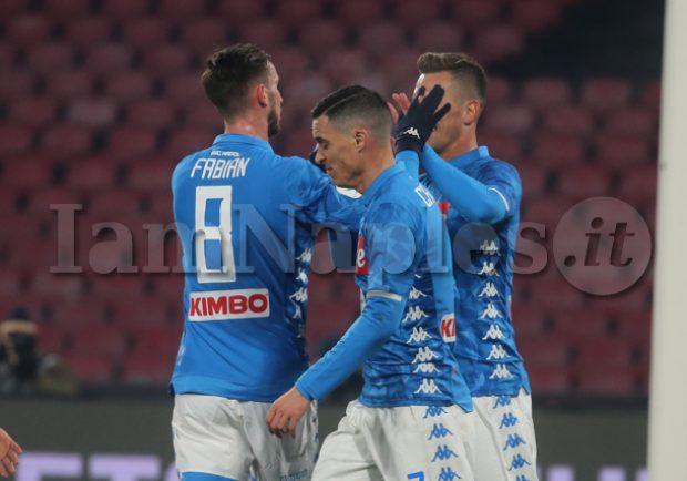 Napoli-Sassuolo 2-0: azzurri ai quarti con i gol di Milik e Fabian Ruiz. Le pagelle di IamNaples.it