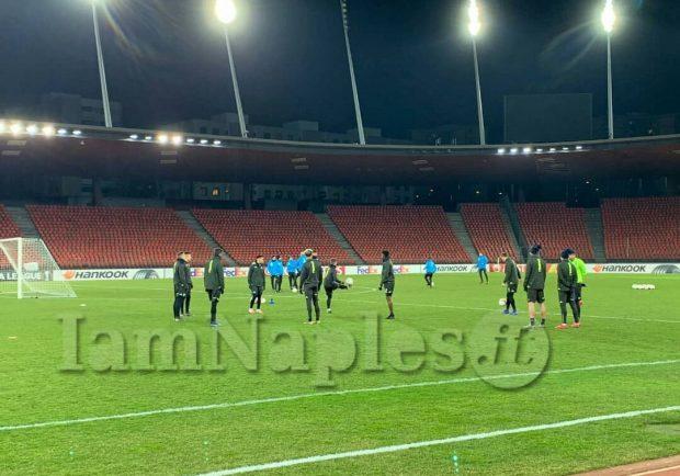 PHOTOGALLERY – Napoli, ecco la rifinitura degli azzurri al Letziground Stadion