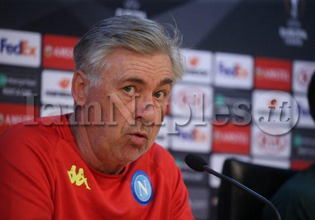 """Ancelotti: """"Albiol potrebbe essere disponibile per i quarti. Su Insigne, Chiriches e Diawara…"""""""
