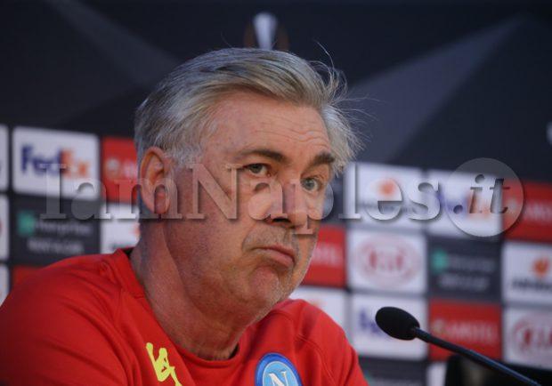 """Ancelotti in conferenza: """"La gara di giovedì sarà speciale, la differenza la faranno il collettivo e il pubblico. Mertens, Milik e Insigne insieme? Vediamo…"""""""