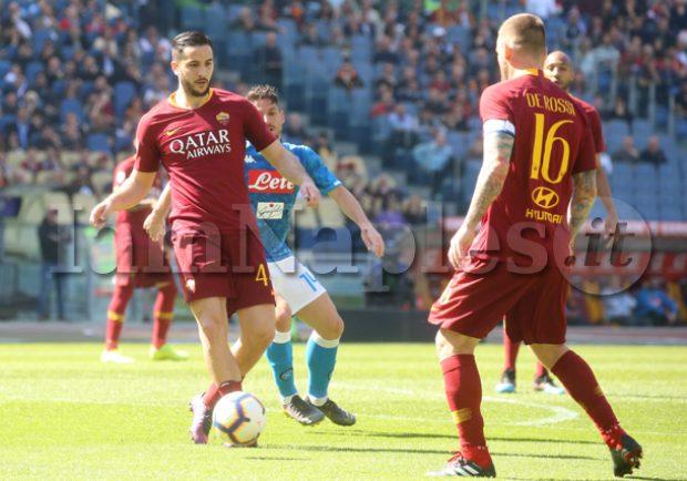 Roma, De Rossi ai box per 2-3 settimane: lesione al bicipite della coscia destra per il capitano giallorosso