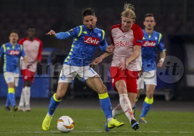 VIDEO – Red Bull Salzburg-Napoli 3-1, gol inutile nel finale di Leitgeb