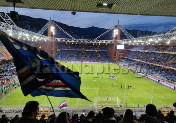 Sampdoria, tifosi a Bogliasco per dare carica alla squadra