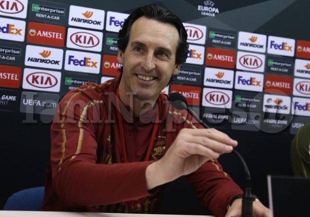 """RILEGGI IL LIVE – Papastathopoulos: """"La partita inizia 0-0, dobbiamo essere concentrati per 95 minuti"""", Emery: """"Domani l'obiettivo è vincere"""""""
