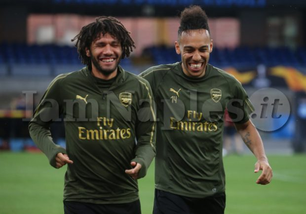 PHOTOGALLERY E VIDEO IAMNAPLES.IT- L'allenamento dell'Arsenal al San Paolo: grande tranquillità tra i Gunners