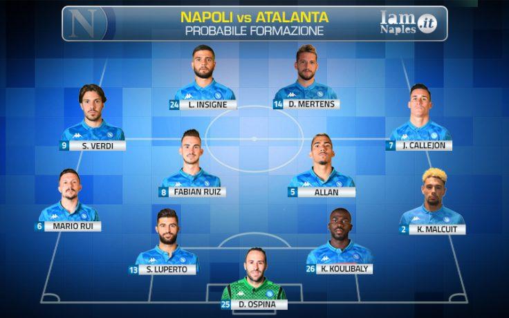 Napoli-Atalanta, Chiriches fuori per infortunio: le ultime