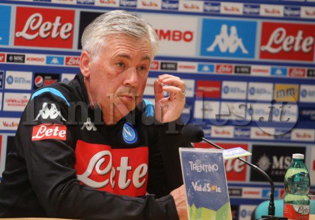 """VIDEO IAMNAPLES.IT – Ancelotti: """"James non è ancora un giocatore del Napoli. L'obiettivo è vincere"""""""