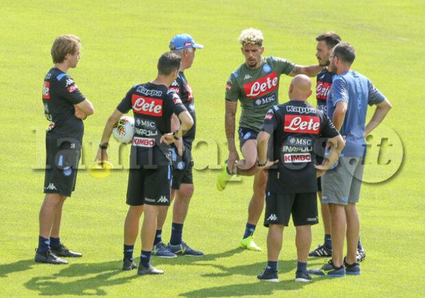 CorSport – Verso Napoli-Samp: niente ritiro per gli azzurri, notte in famiglia per i calciatori