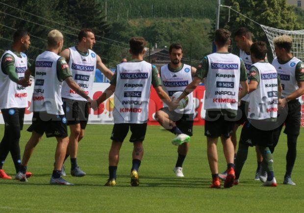 RILEGGI IL LIVE – Dimaro, giorno 6: partitella a campo ridotto, Callejon segna 4 gol!