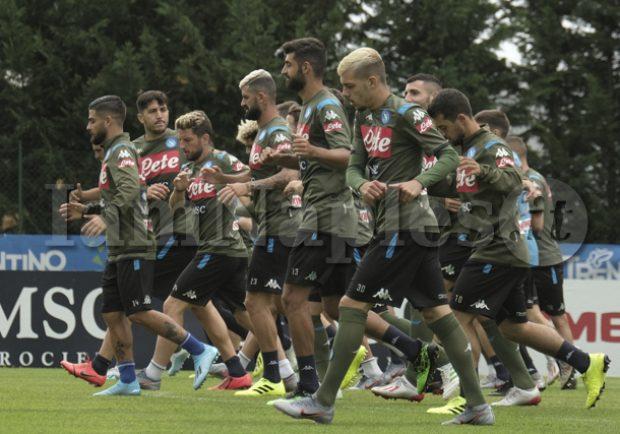SSC Napoli, il report dell'allenamento: differenziato per Milik, Insigne e Tonelli