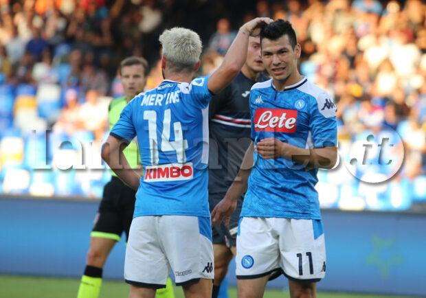 SKY – Napoli-Genoa, la probabile formazione degli azzurri: Lozano e Mertens in attacco