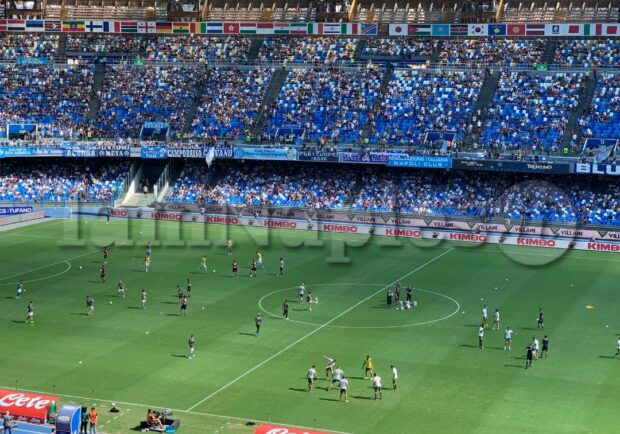 Napoli-Perugia, attesi al San Paolo poco più di 10mila spettatori
